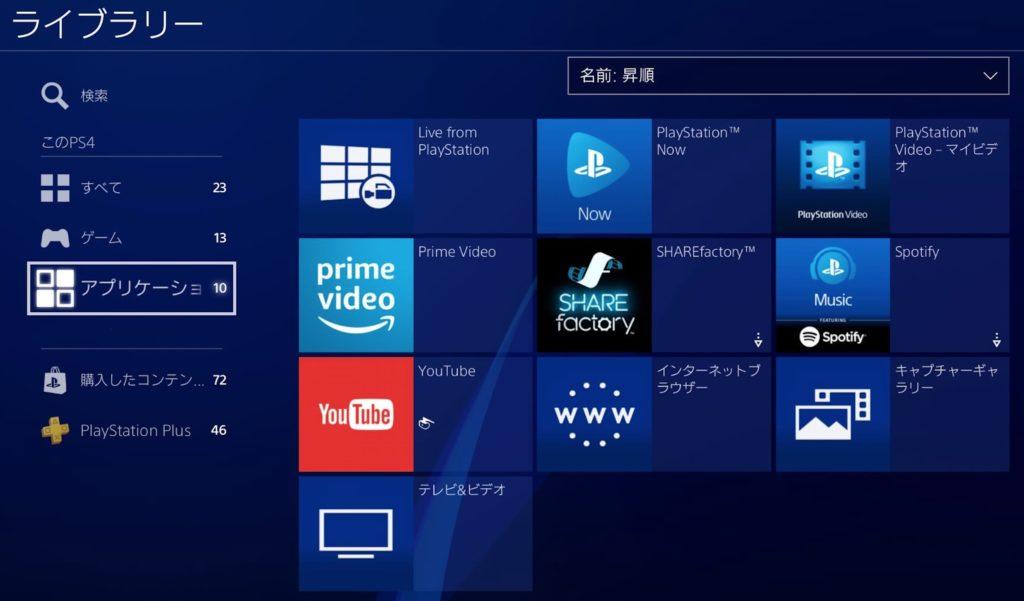 PS4のブラウザは「ライブラリ」内に存在(クリックで画像拡大)