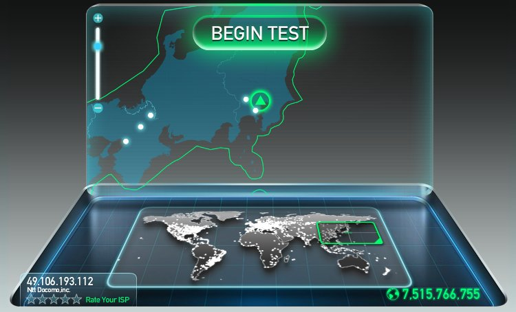 Ping測定で有名な「SPEEDTEST.NET」