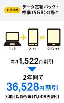 データ定額パック・標準(5GB)
