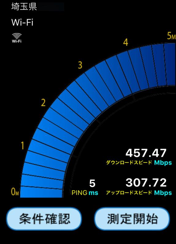 ZXHN F660AとiPhone6Sの速度結果