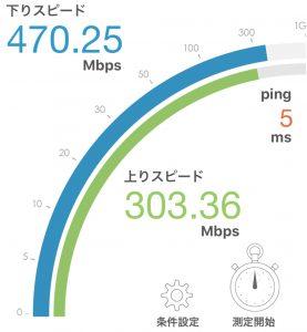 ニューロ光 Wi-Fi実測 2017年5月 計測結果