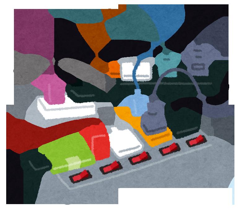電源タップではNGの接続の仕方