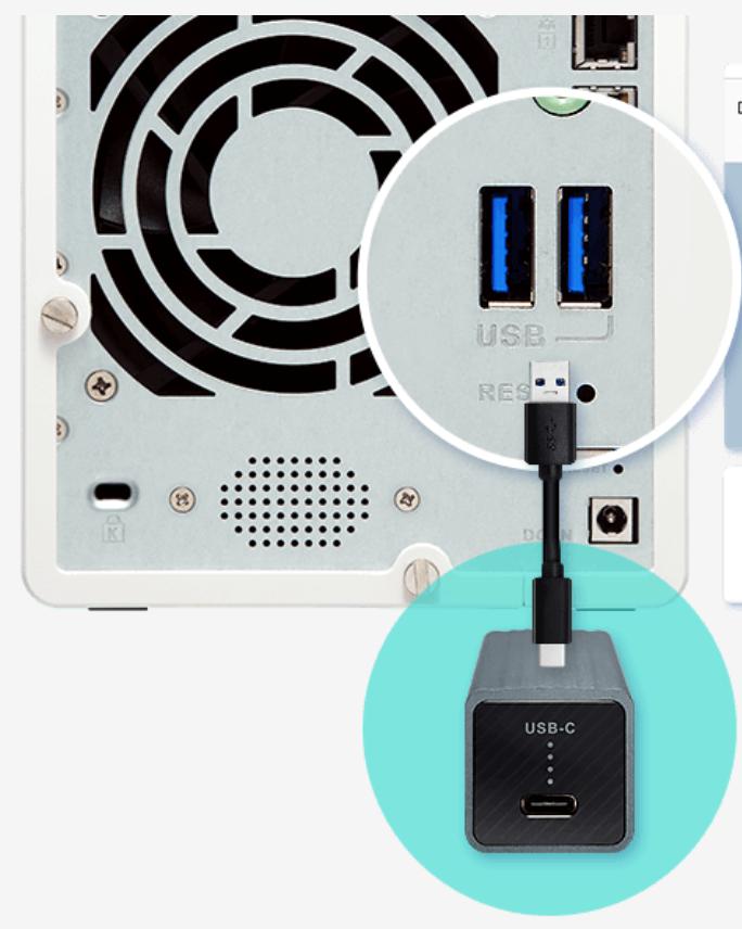 接続イメージ(USB3.0は青色の差込口が特徴)