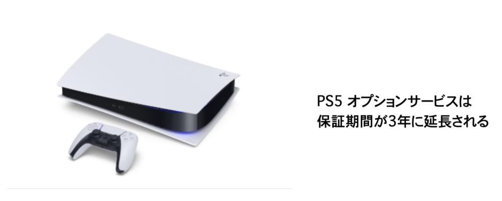 PS5オプションサービスは保証期間が3年